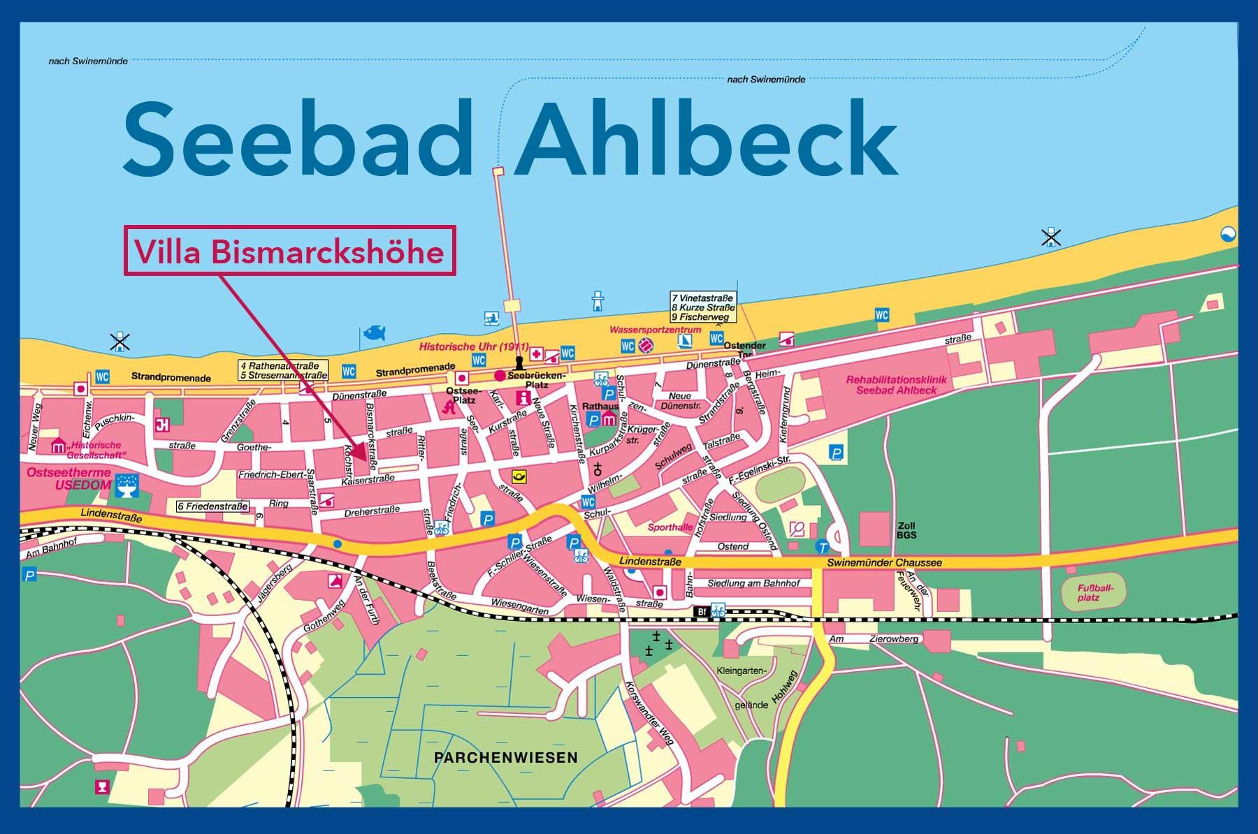 Stadtplan Ahlbeck